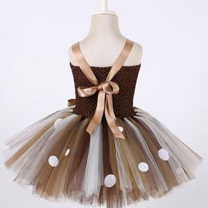 Christmas Deer Tutu Dress Baby Girls 1st Birthday Party Dresses Happy Purim Halloween Winter Cosplay Costume Clothes For Kids #babygirlpartydresses