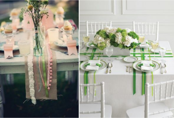 High Quality Alternative To Table Runner?) {Wedding Trends} : Ribbon Galore  15 New And  Classic Forms By Belle The Magazine Design