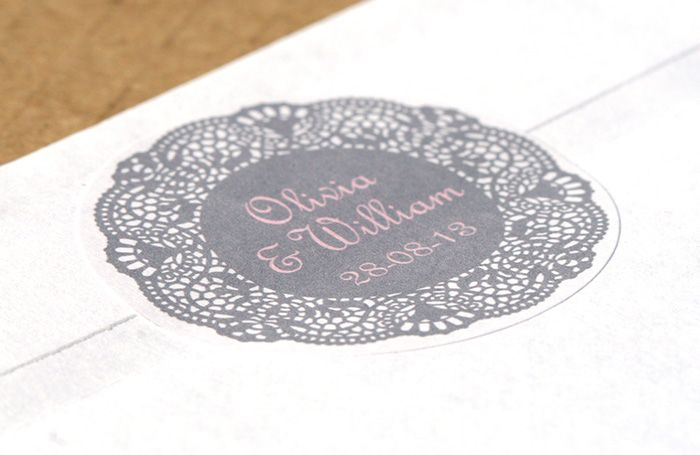 Personalised stickers doily designs