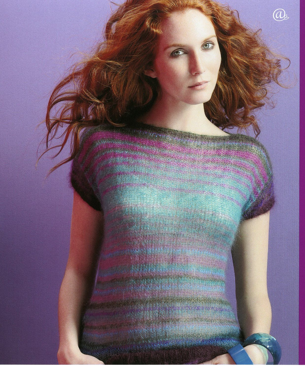 Kaffes slovenia striped short sleeve mohair pullover featured in kaffes slovenia striped short sleeve mohair pullover featured in magazine 55 sweater patternsrowan knitting patternsfree bankloansurffo Images