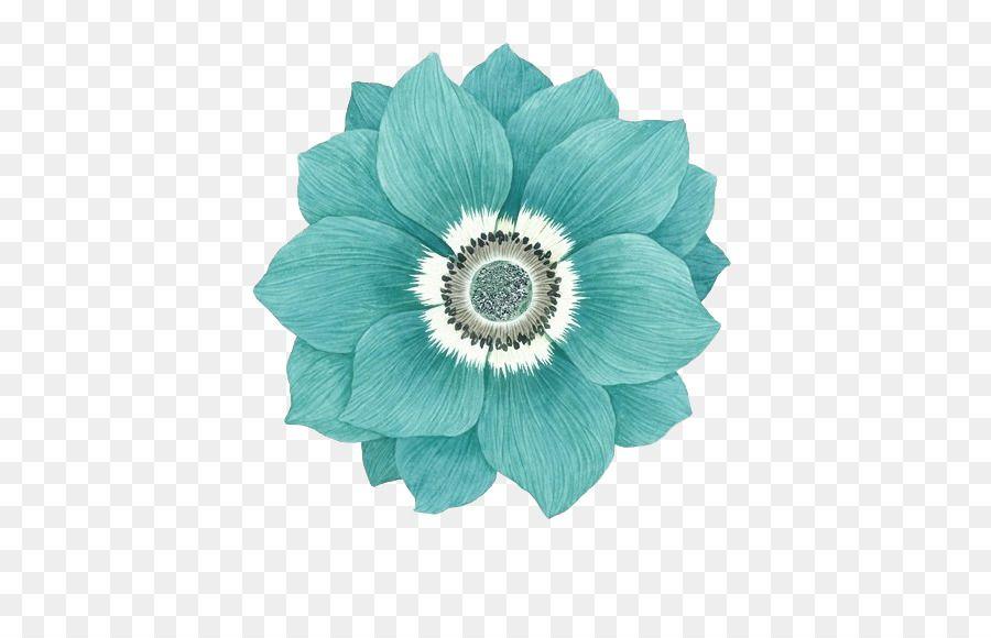 Flower Blue Sky Blue Version2016 Green Green Flower Pattern Flores Em Png Ilustracoes Desenhos Aquarela