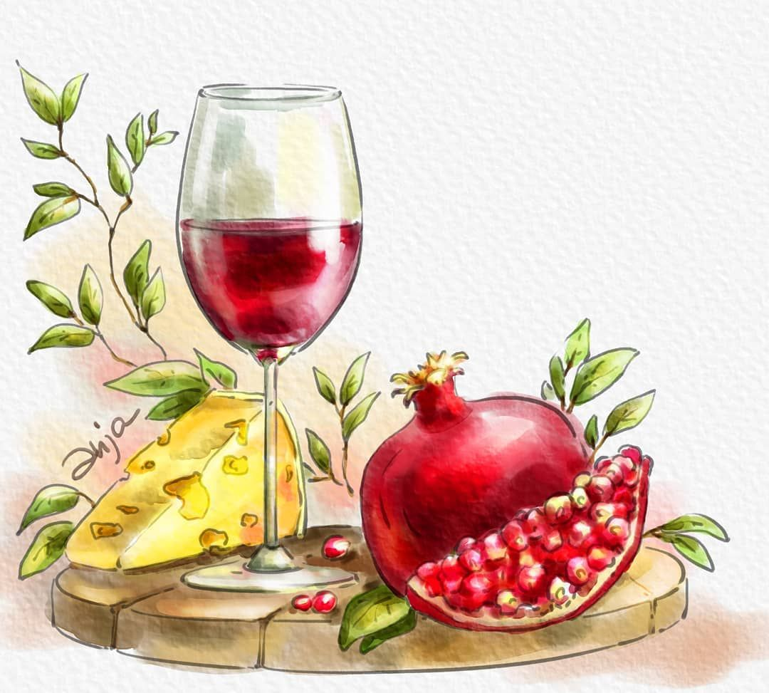Wine Days Festival Yerevan Armenia Yerevanwinedays Wine Cheese Watercolor Watercolor Art Wine Days Festival Y African Paintings Wine Watercolor Art