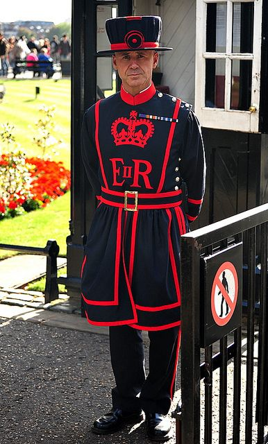 The Guard Known As The Yeoman Warders Or Beefeaters Yeoman Warder Tower Of London London England