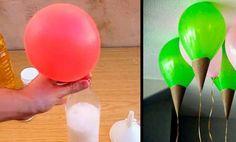 Truco de casa para que los globos vuelen sin usar helio, parece magia!