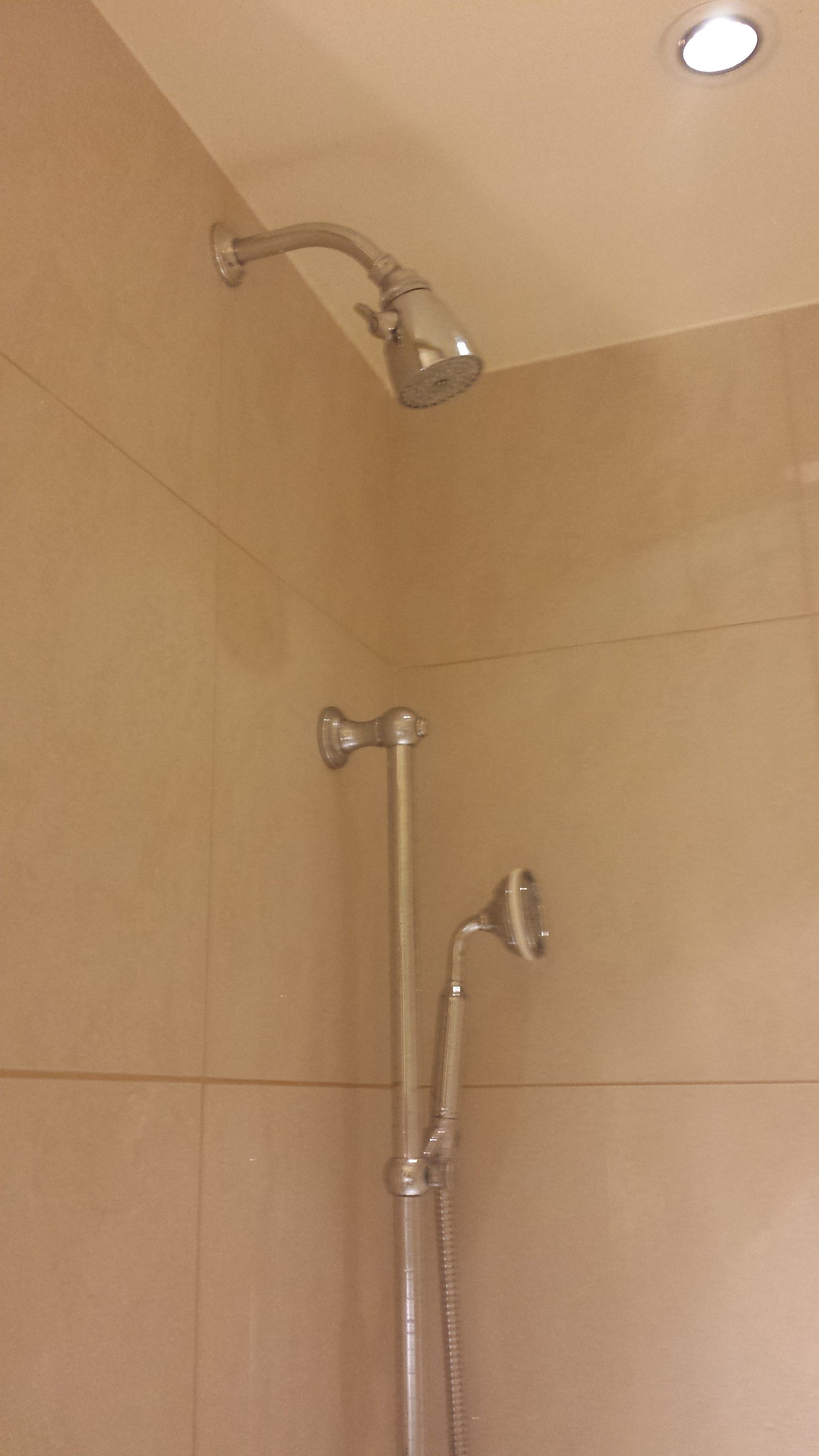 Showerhead Is High For Tall People We Want To Tile All The Way To