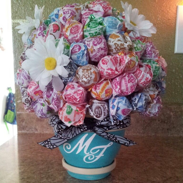 Lollipop bouquet | Clay pot crafts | Pinterest | Clay, Craft and Xmas