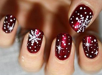 Christmas Gel Nails Google Search