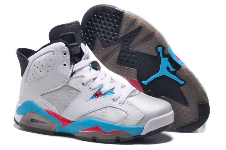 Womens New Air Jordan 6 Girls Retro White Blue Red For Sale Women Air  Jordan 6 - Nike official website Up to discount