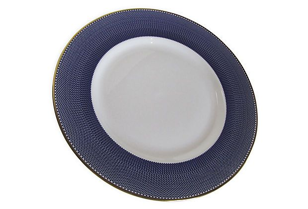 Benday Blue Dinner Plate on OneKingsLane.com