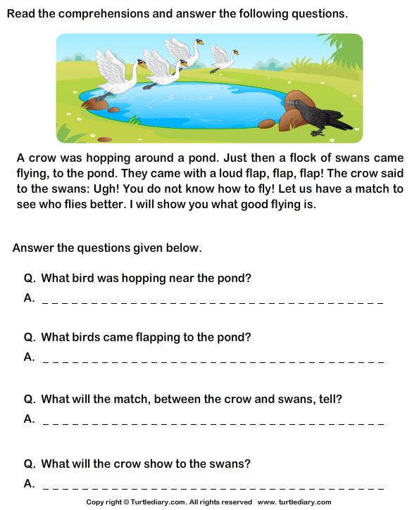 Reading Comprehension Worksheets Grade 1 1 Places To Visit