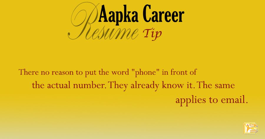 Words To Put On Resume Resume Tip  # Aapkacareer There No Reason To Put The Word .