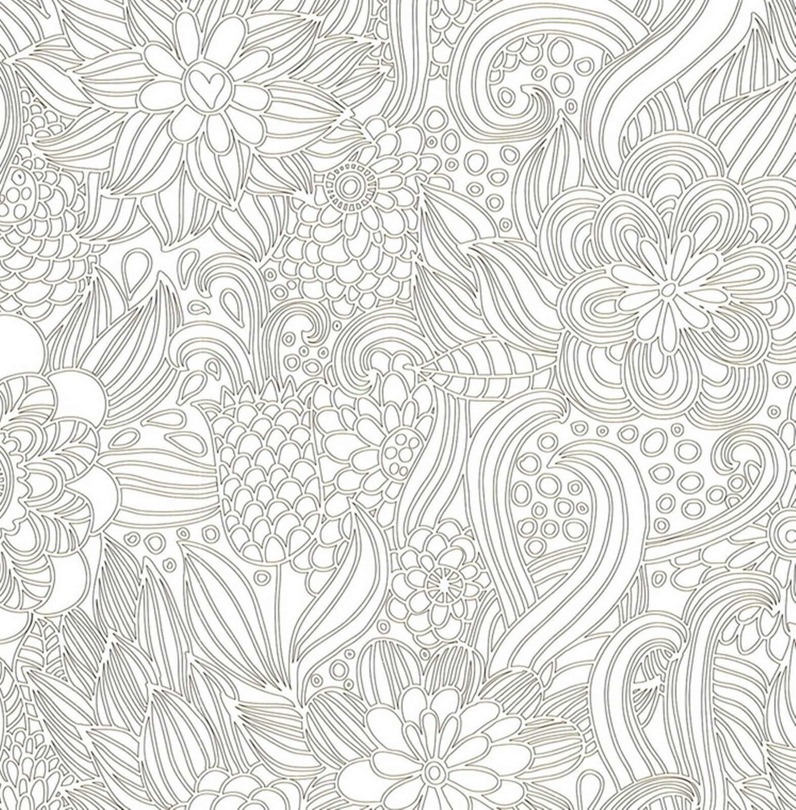 Flower coloring book for adults gift anti stress art therapy fun
