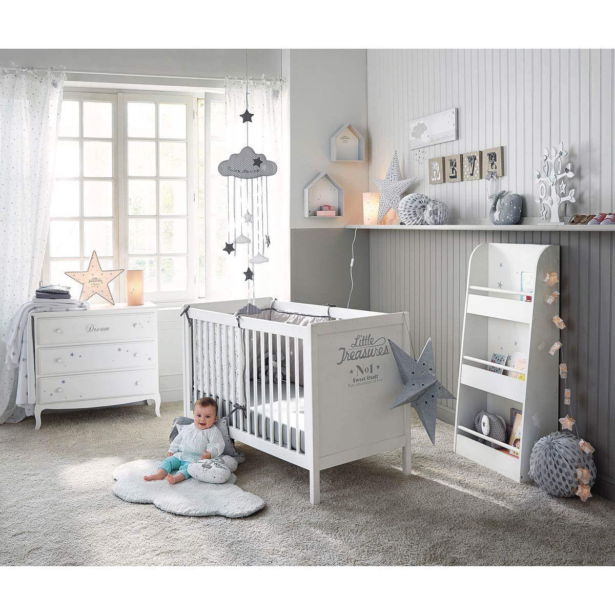 Chambre bébé en blanc et gris   maison   Pinterest   Chambres bébé ...