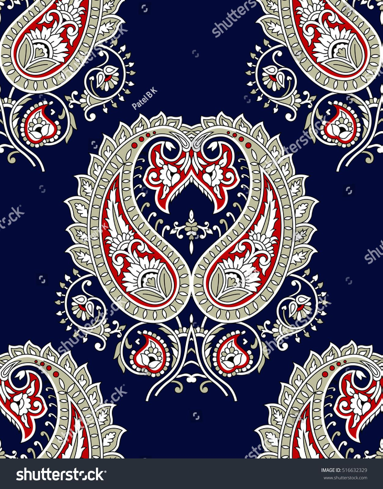 Indian Traditional paisley pattern | Qasim in 2019 | Paisley