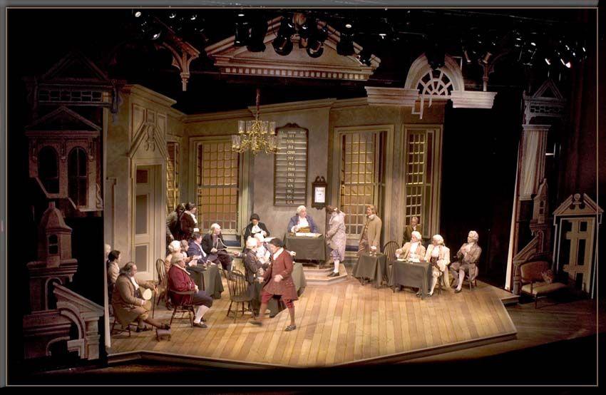 1776 Set Design By Richard Finkelstein Stage Designer