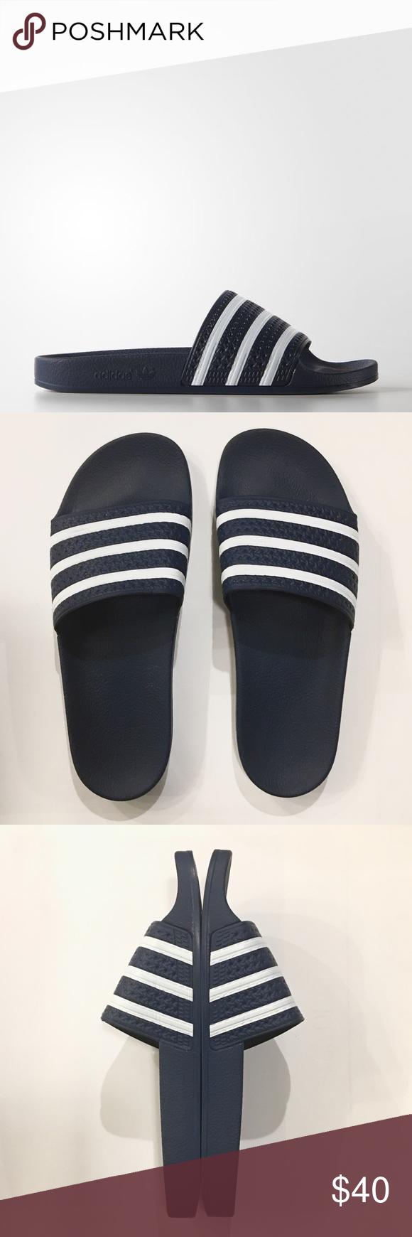 93332f4498e046 ADIDAS Adilette Slides CLASSIC Men s Adidas Adilette Slides (Sandals Flip  Flops). Size  11. Color  Adi Blue Adidas Shoes Sandals   Flip-Flops
