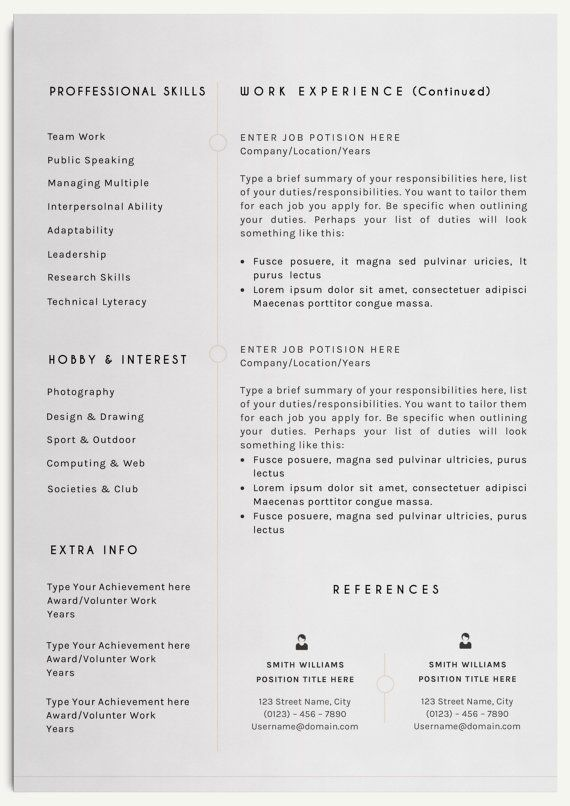 Resume Template Elegant Resume Template for Word CV Template - resume or word