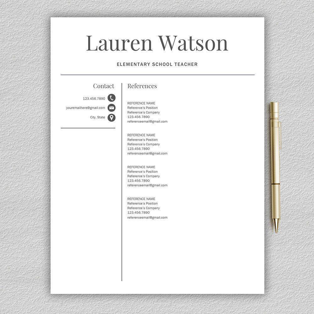 Resume Template Teacher CV Resume template, Letter
