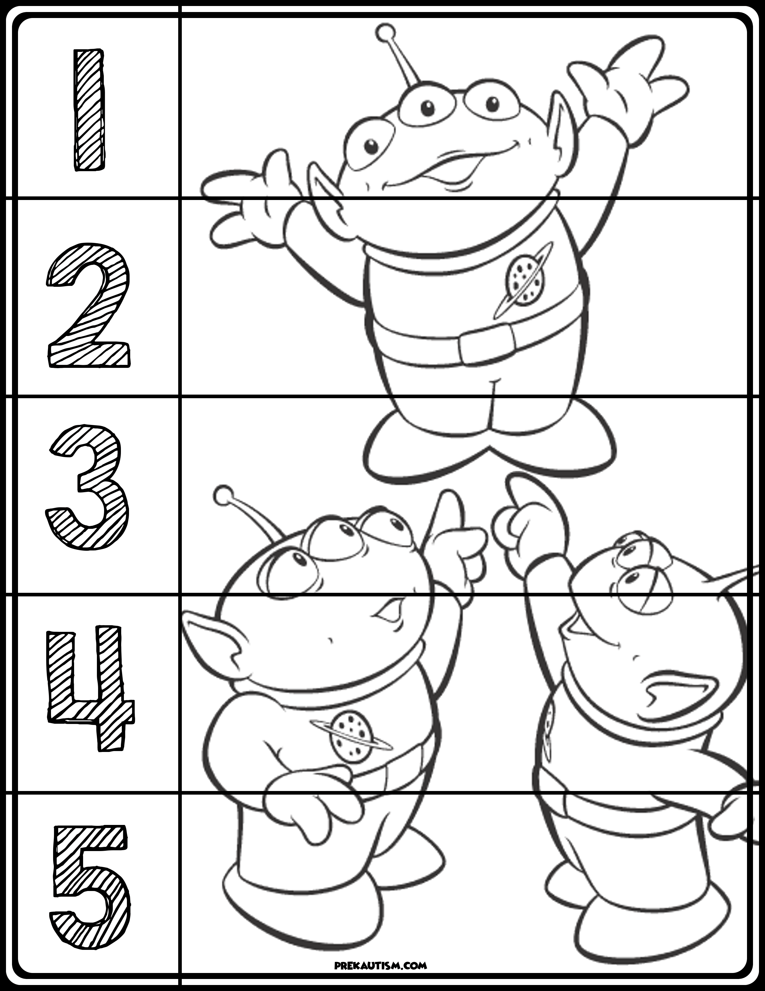 Toy Story Puzzles | Toy story, Number puzzles, Preschool ...