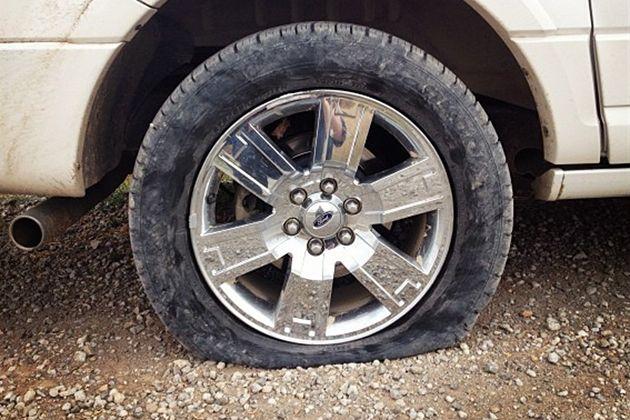 Flat tires ala Pioneer Woman...  (she cracks me up!)