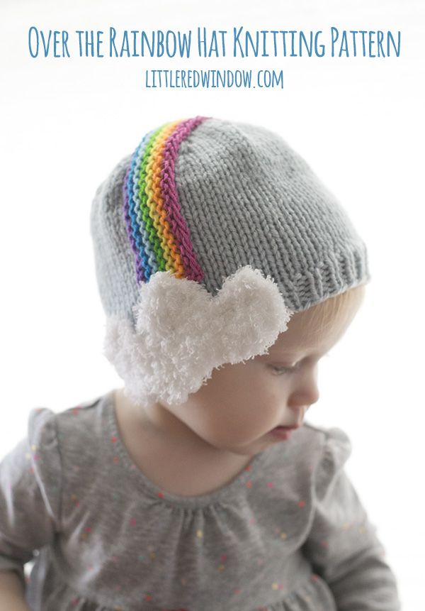 Over The Rainbow Hat Knitting Pattern Baby Patterns Pinterest