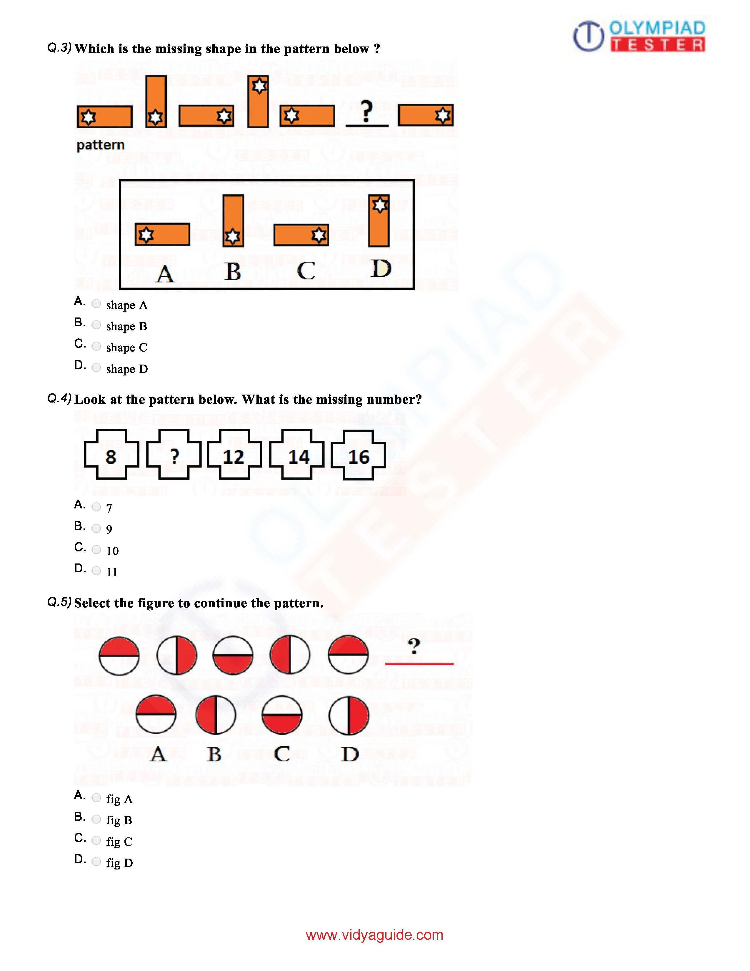 Download Grade 1 Maths Olympiad Sample Papers As Pdf Worksheets On Our Website Class 1 Imo Free Course Of Olympiadtester Has Math Olympiad Class 1 Maths Math