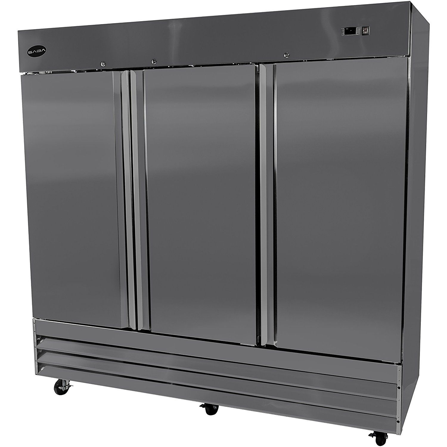 Heavy Duty Commercial Stainless Steel Reach In Refrigerator 81 Three Solid Door For More In Solid Doors Adjustable Shelving Stainless Steel Doors