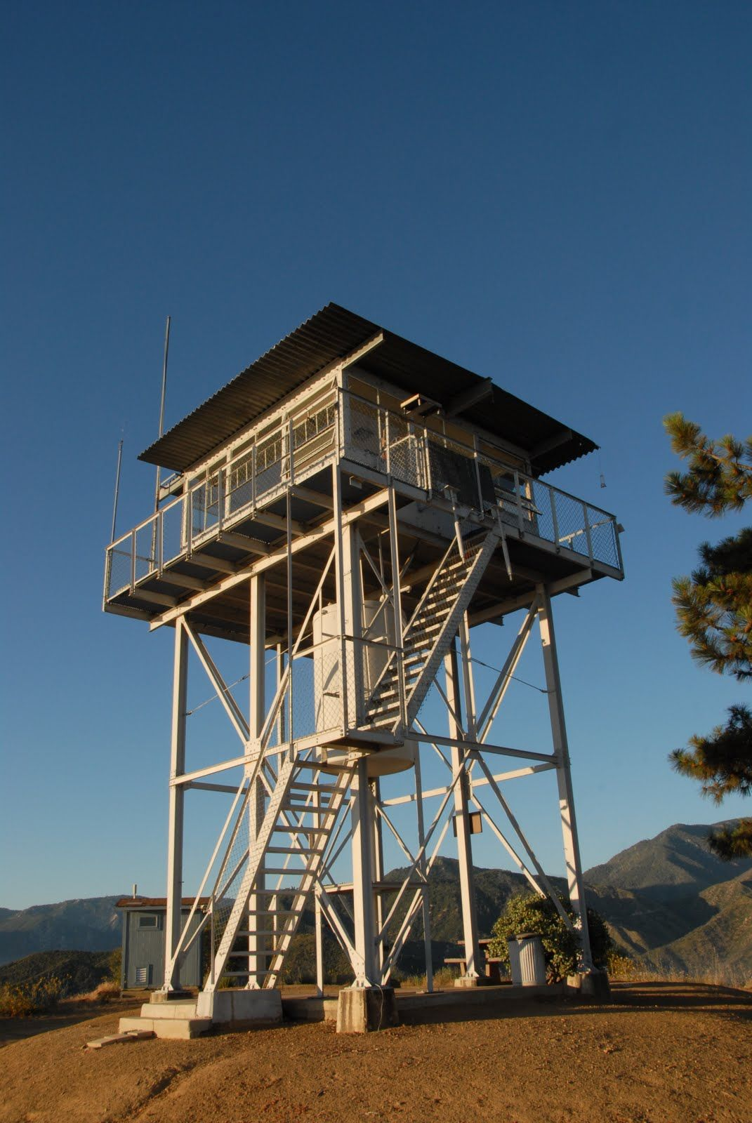 Fire Tower Lookout A Day And Night Above The Clouds At