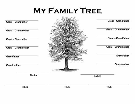 free template for family tree