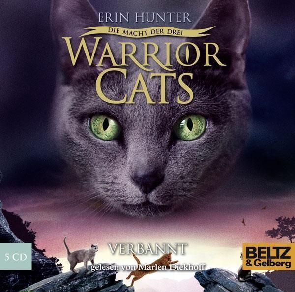 Hörbuch: Warrior Cats - Die Macht Der Drei 3/03. Verbannt  Von Erin Hunter, Audiobooki w języku niemieckim