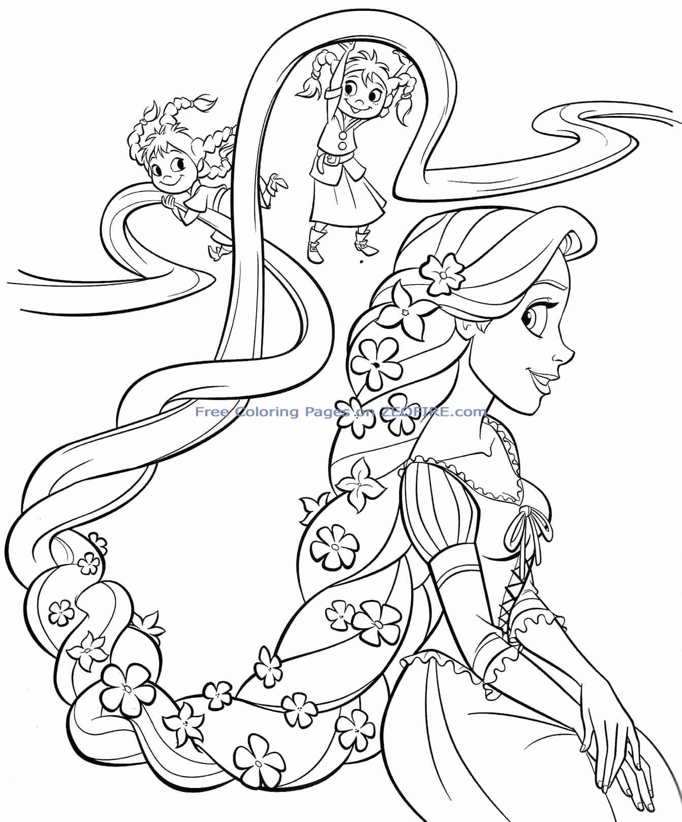 Disney Coloring Sheets Pdf Luxury Coloring Sheets 42 Staggering Printable Princess Coloring Rapunzel Warna Buku Mewarnai