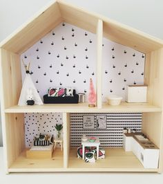 IKEA Flisat Hack, Modern Dollhouse Renovation, 1:12 Scale, Monochrome Decor,