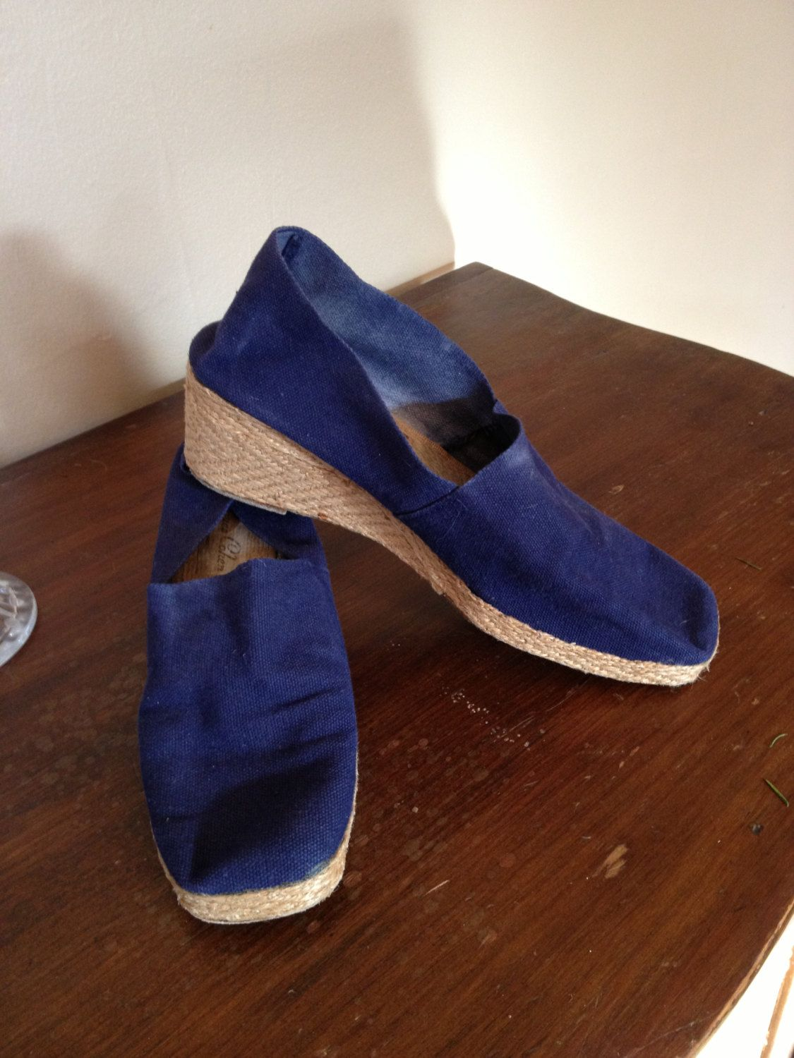 Jacques Cohen Blue Espadrilles, Made in France. (vintage) | Blue ...