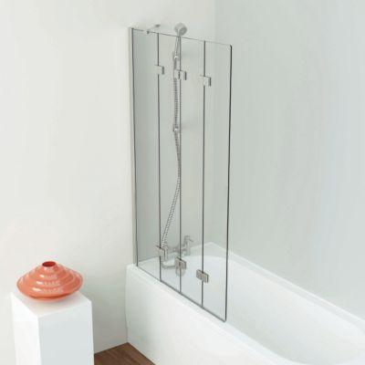 Iflo Kalhatti Frameless 4 Panel Folding Bath Screen 1500x950mm Right Hand Bath Screens Minimalism Interior Paneling