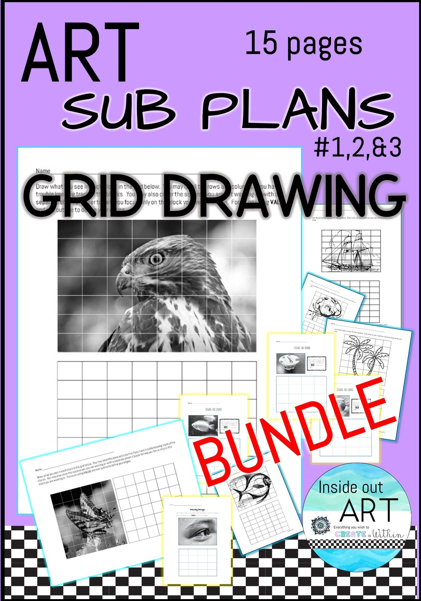Great Value 15 Grid Drawing Worksheets Perfect Substitute