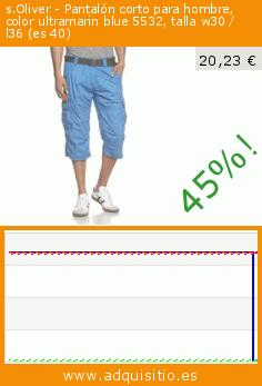 s.Oliver - Pantalón corto para hombre, color ultramarin blue 5532, talla w30 / l36 (es 40) (Ropa). Baja 45.176151761518%! Precio actual 20,23 €, el precio anterior fue de 36,90 €. https://www.adquisitio.es/soliver/pantal%C3%B3n-corto-hombre-137