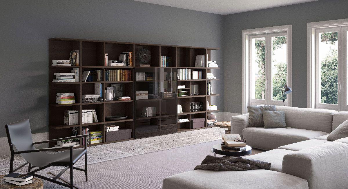 SPAZIOTECA libreria componibile | modular bookcase | PIANCA | www.pianca.com