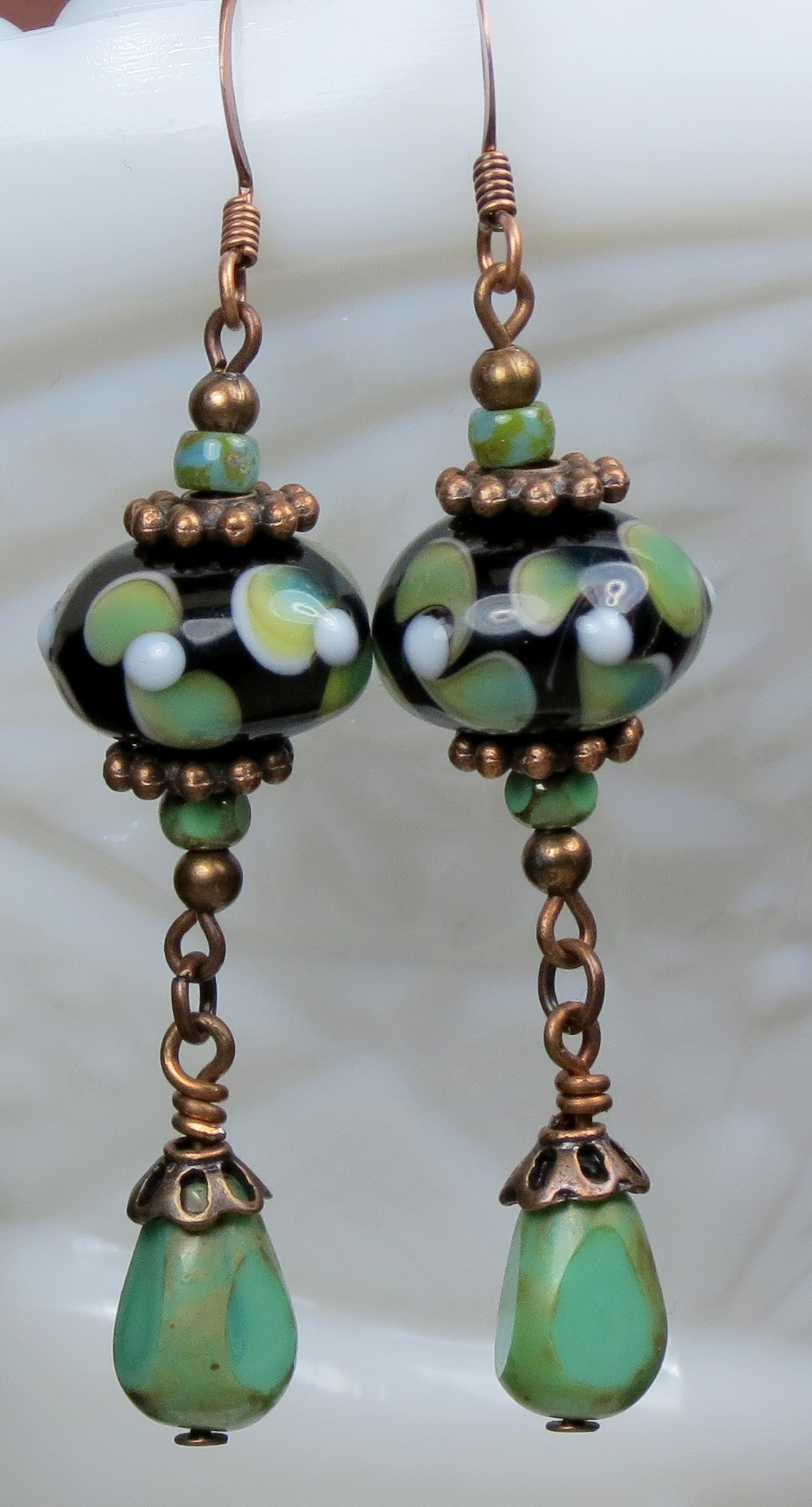 Boho Earrings  Black Earrings  Bead Earrings  Dangle Earrings  Drop Earrings  Gift for women  Gift for her