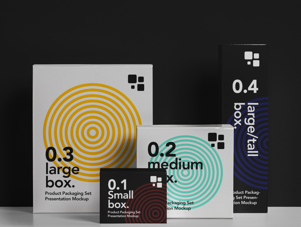 Download Free Packaging Psd Box Mockup Set By Pixeden On Dribbble Free Boxes Box Mockup Box Packaging