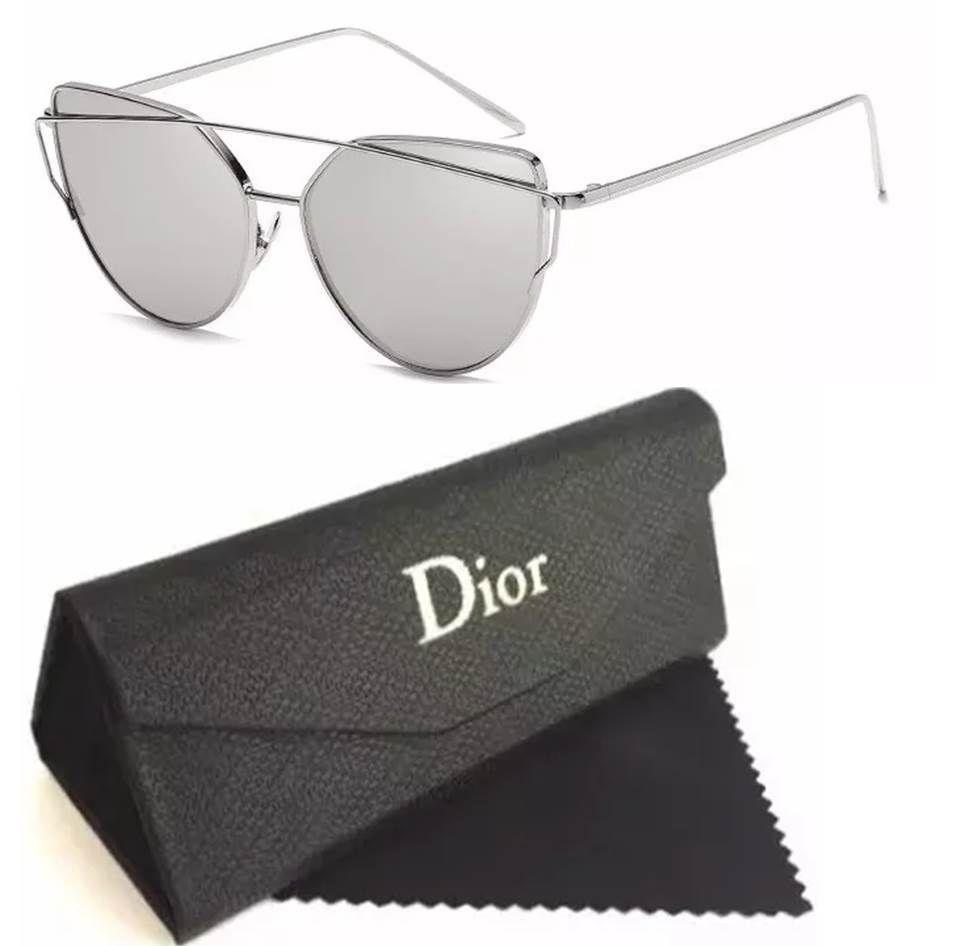 529b438f7ca86 Replicas de óculos de sol baratos das melhores marcas. Óculos Dior modelos  gatinho com lentes
