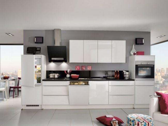 Moderne Hochglanz Küchen in Weiß - 25 Traumküchen mit - küchenzeile weiß hochglanz