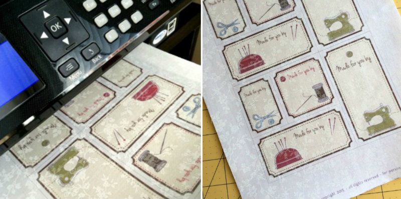 Find your favourite design and print it on fabric using freezer paper.