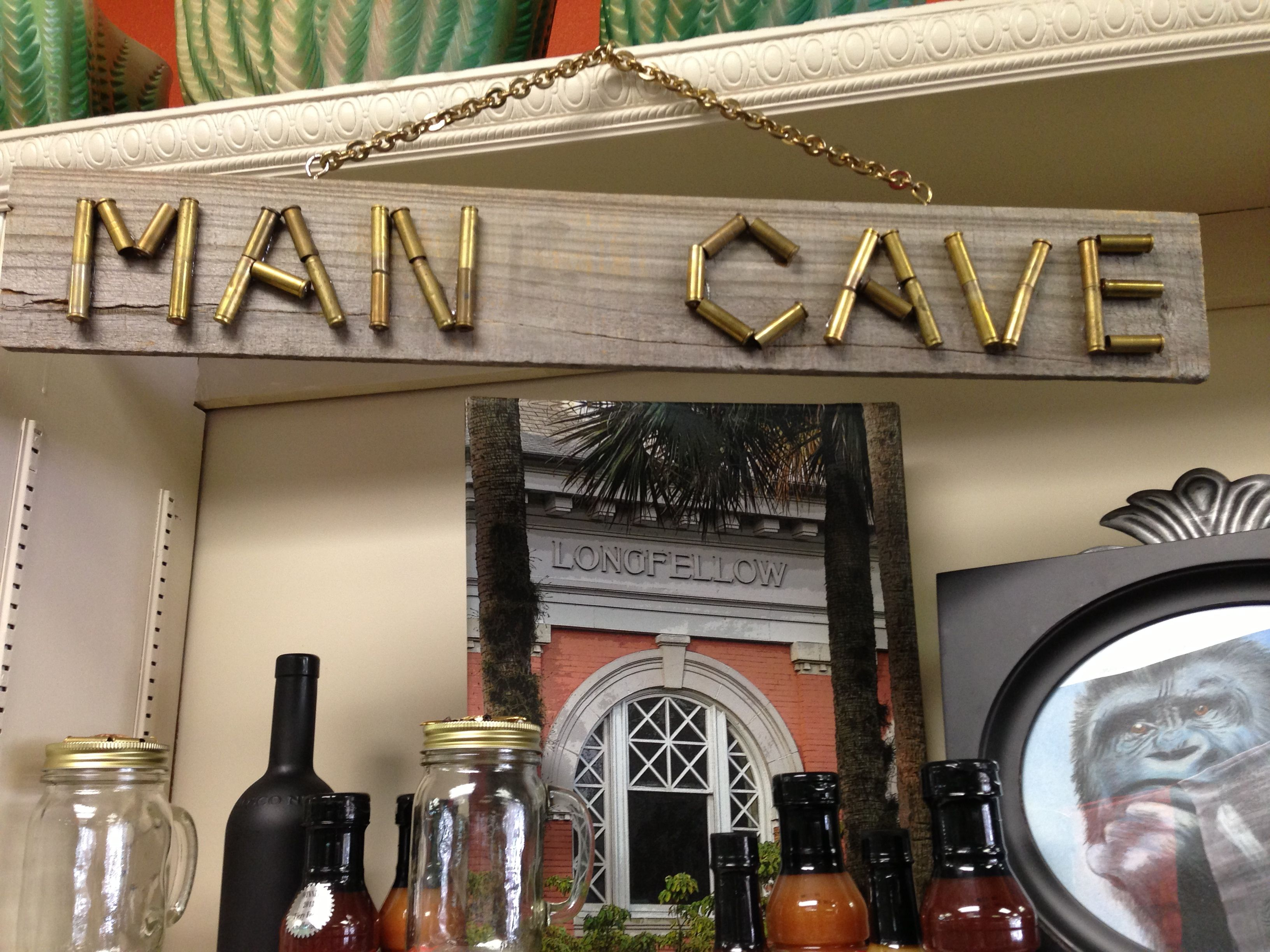 Repurposing Man Cave Sign Made From Bullets