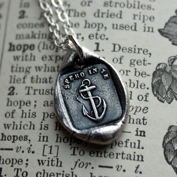 Anchor stamp necklace