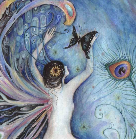 Sylph fairy fantasy art picture by Liza Paizis by ArtSoulCreations, $25.00