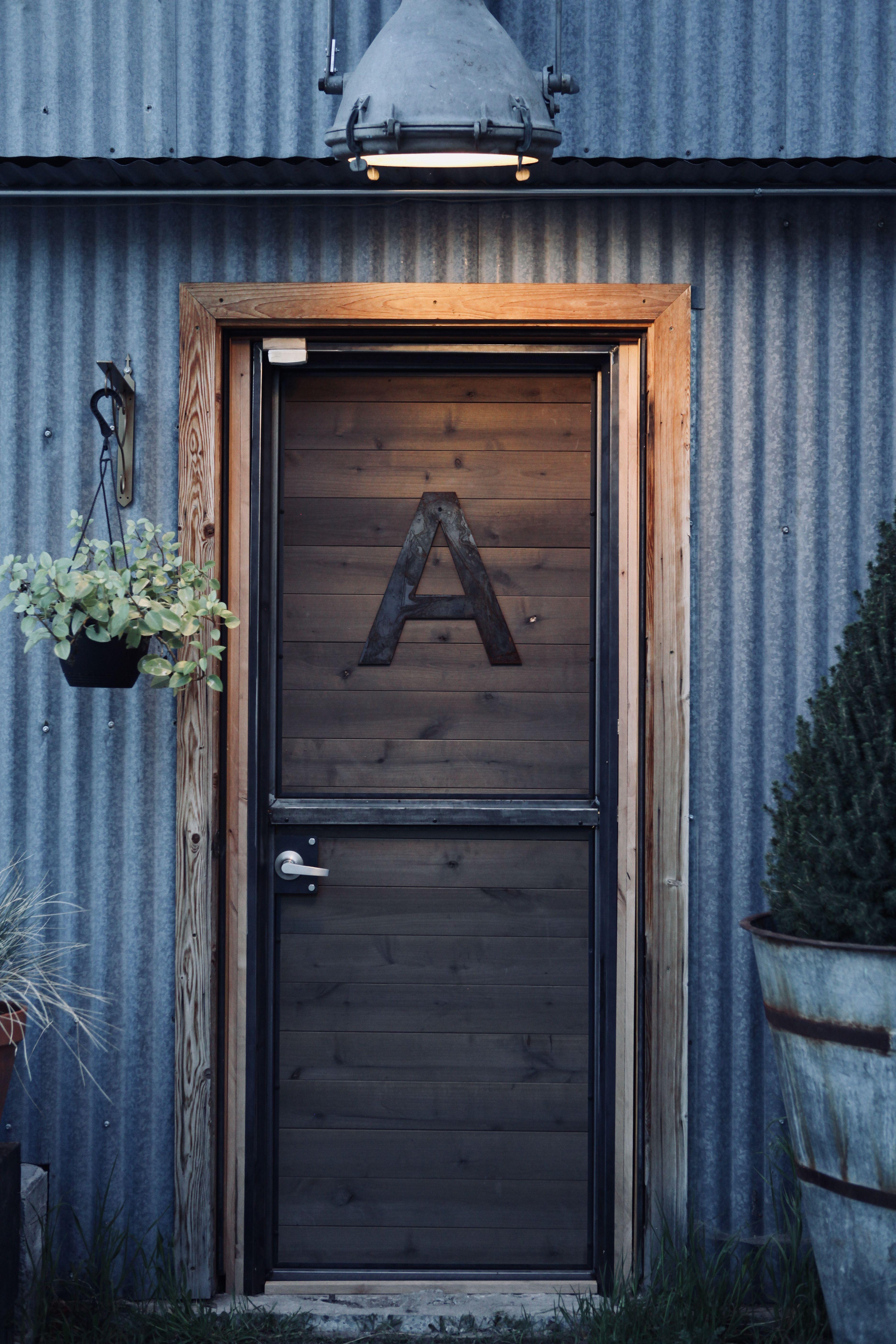 Introducing the Rustica Modern Dutch Door! Yes, the top