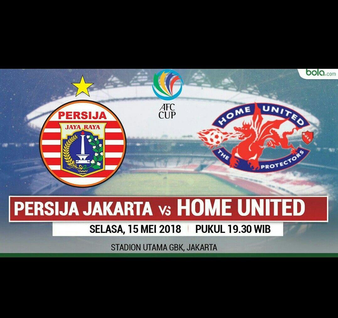 Persija Jakarta Menjalani Laga Yang Sangat Krusial Ketika Menjamu Home United Di Stadion Utama Gelora Bung Karno Senayan Jakarta Dalam Leg Kedua Sepak Bola