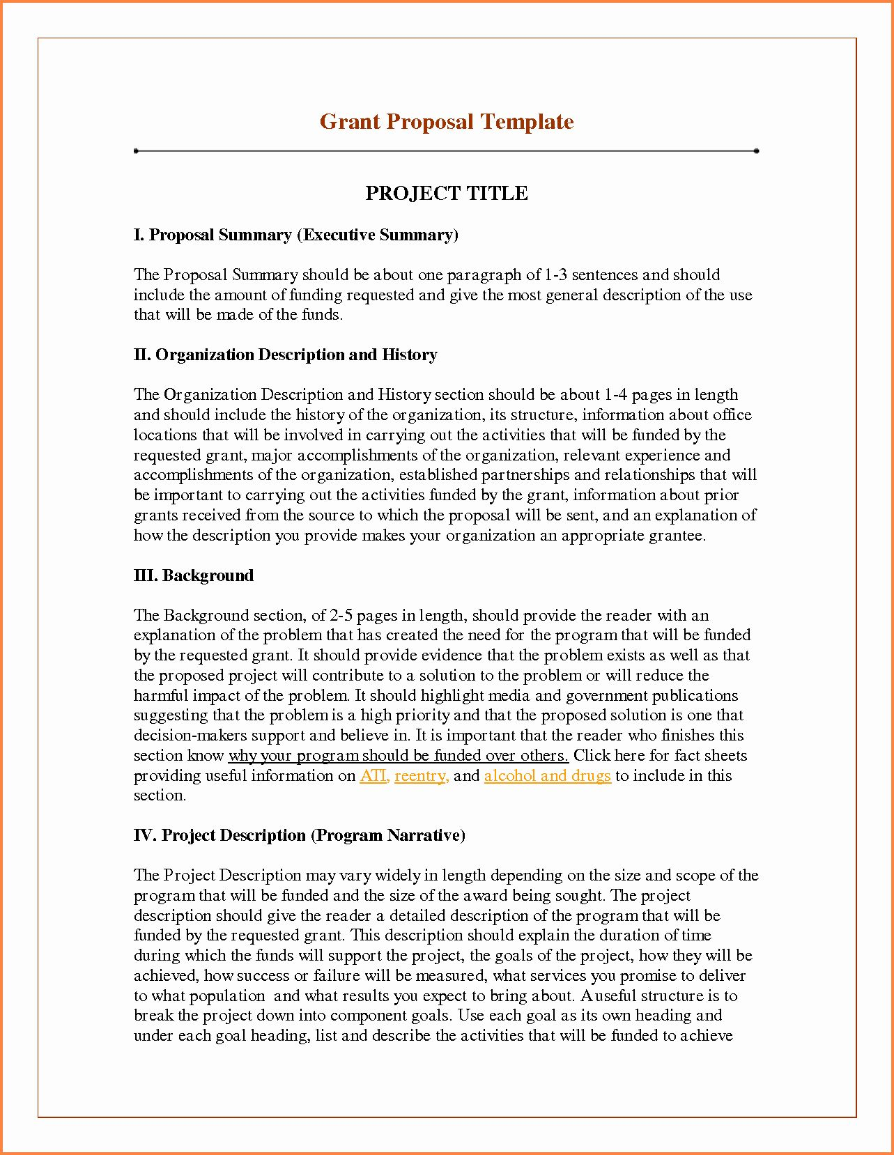 Project Proposal Outline Sample Fresh 27 Research Project Proposal