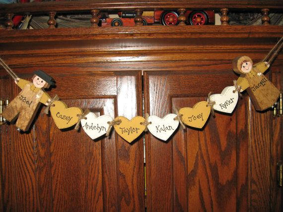 Family Ties-- wooden personalized symbol of your family by Me-just put them in my etsy shop!