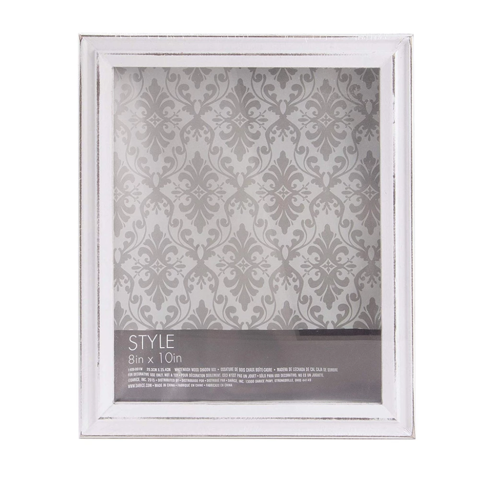 Darice White Shadow Box Frame Whitewashed Wood 8 X 10 Inches Wood Shadow Box Wood Picture Frames White Shadow Box